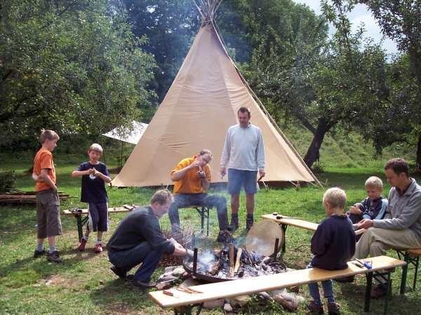 Tipi-Sommercamp