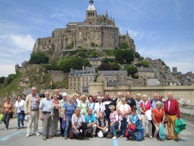 Gruppenfoto der Busreise Normandie