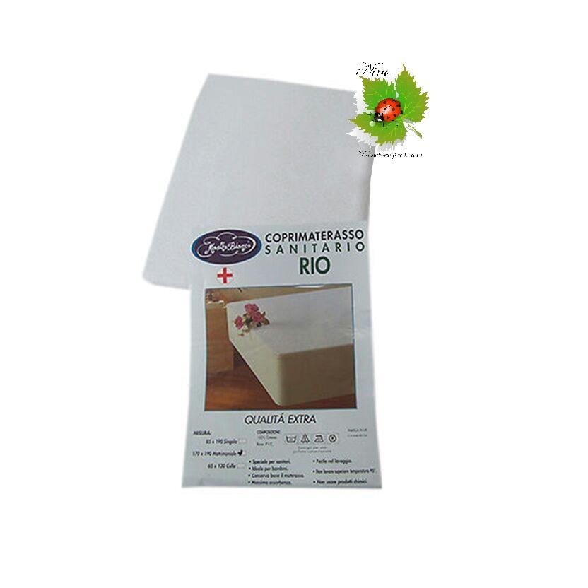 Coprimaterasso Sanitario per culla impermeabile Art. A403 misure 65x130 colore Bianco