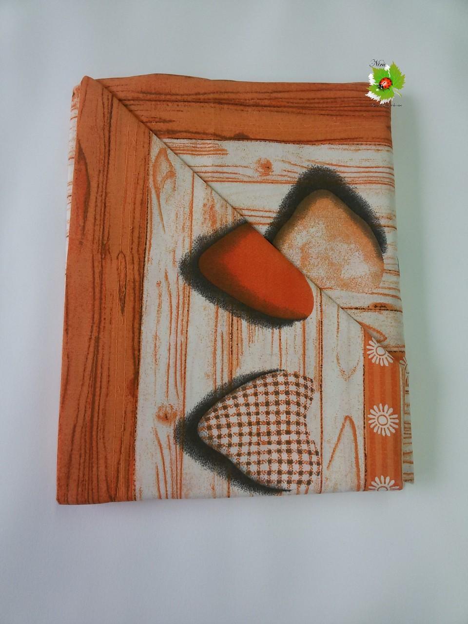 Completo lenzuola in cotone singolo col.Arancio.Art.A413
