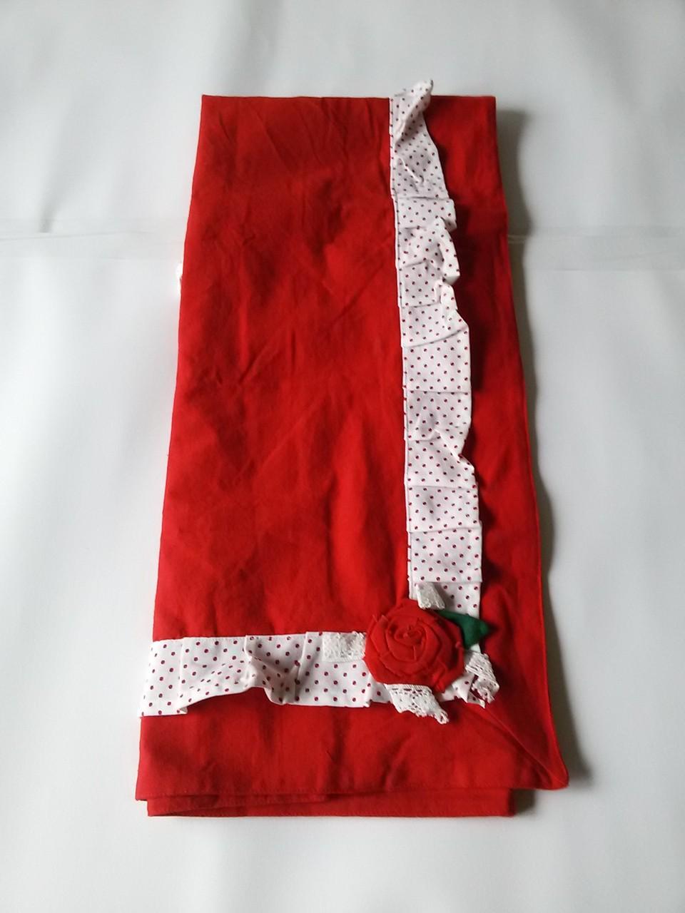 Centro tavola Natalizio quadrato rosso 90x90 cm Art.A446