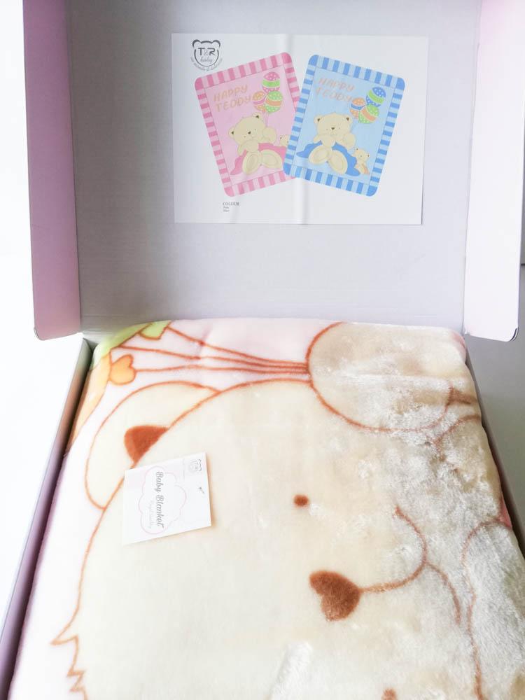Copertina lettino in pile cinigliato Baby Banket. Dis Orsetto 110x140 cm. C071