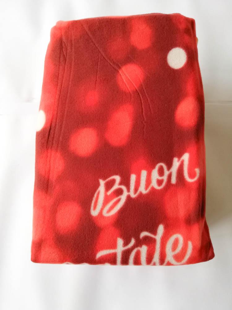 Set lenzuola in pile con stampa digitale 3D natalizia matrimoniale. Dis.Orsetto Natalizio. B666_