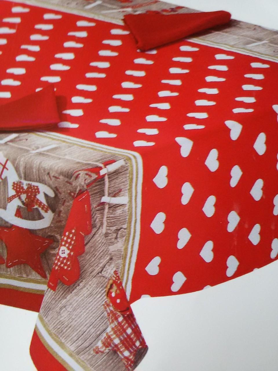 Tovaglia da tavola natalizio per 12 persone 140x240 cm Art.A419