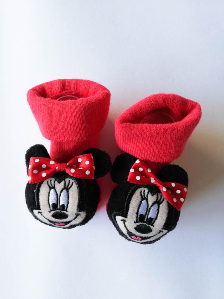 Scarpine calzino neonato natalizio ricamato Disney. C102