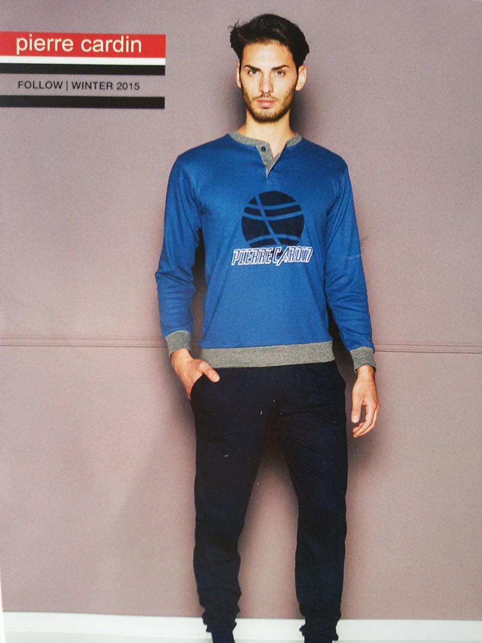 Pigiama uomo invernale col.blu in caldo Cotone Pierre Cardin Art.A394