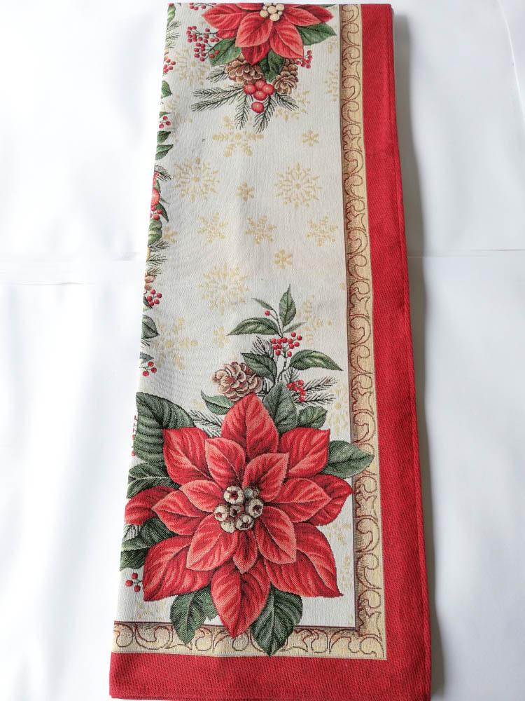 Copritavola o tovaglia natalizia per 6 persone 140x180 cm in Gobelin. B710