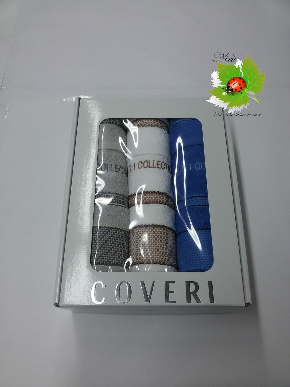 Asciugamani coveri collection 3+3 Grigio/Bianco/Roial ART.A098