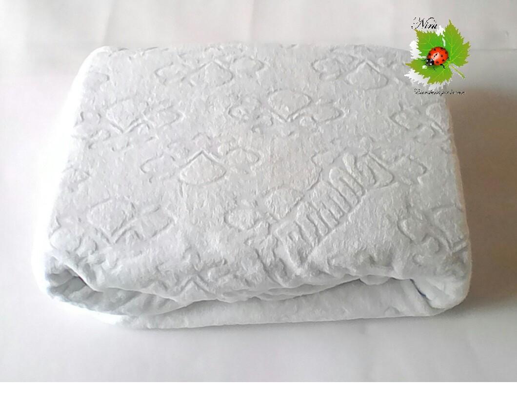 Coprimaterasso FRAMAG letto singolo  Art. A040 misure 90x200cm colore Bianco