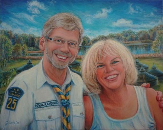 Portrait doppelt, 40x60 cm - 338 €