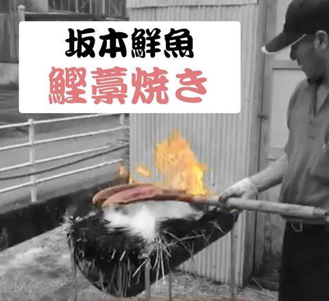 坂本鮮魚 鰹藁焼き