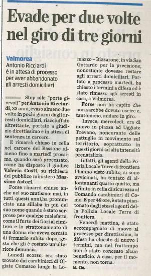 LA Provincia di Como - 13/12/2016