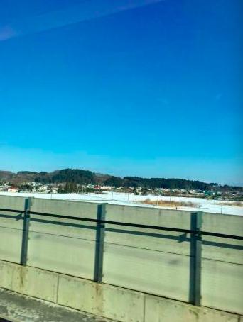 車窓からの景色ー 雪積もってるーヽ(´▽`)/