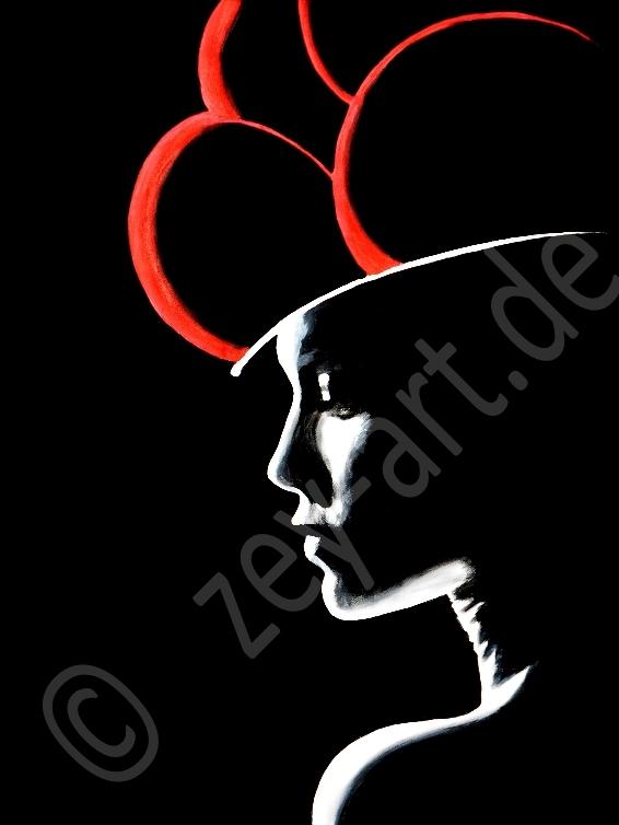 Blackforestgirl/Schwarzwald/Schwarzwaldmädel/Schwarzwaldbilder/Bollenhut/Trachtenmädchen/Acrylmalerei/romantische Malerei/Heimat/heileWelt/Träumerei