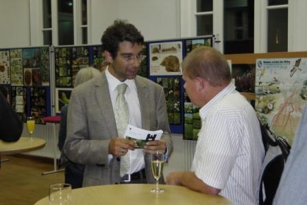 NABU-Landesvorstand Andre Baumann und Ralf Gramlich, OAG