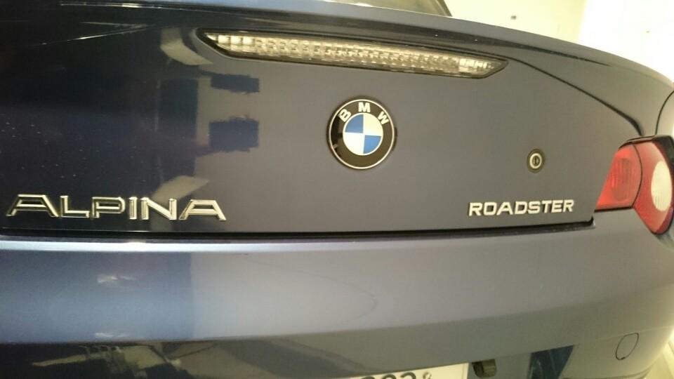BMW ALPINA ROADSTARのバックスタイル  …スペースが無くて変なアングルになってしまった(笑)