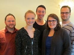 Der neue Kreisvorsitzende Léon Beck (Mitte) mit weiteren Vorstandsmitgliedern