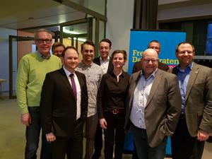 Die Delegierten der FDP Bochum auf dem Bezirksparteitag der FDP Ruhr.