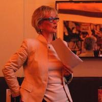 Gudrun Kopp bei ihrem Vortrag (Foto: Vivian Kanth)