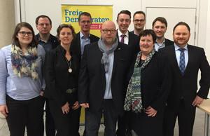 Der neue Kreisvorstand der FDP Bochum