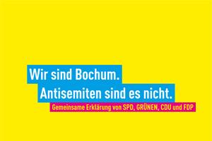 Wir sind Bochum. Antisemiten sind es nicht.