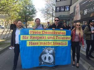 Freie Demokraten bei der Demo am 1. Mai