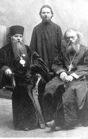 Vater Valentin mit dem Bischof von Taschkent.