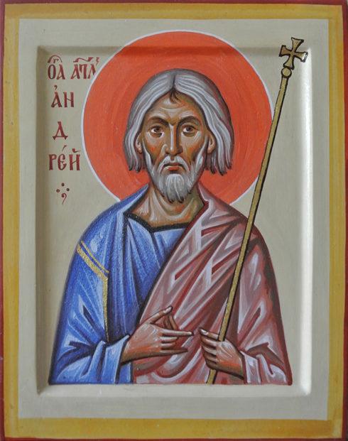 Der heilige Apostel Andreas der Erstberufene.