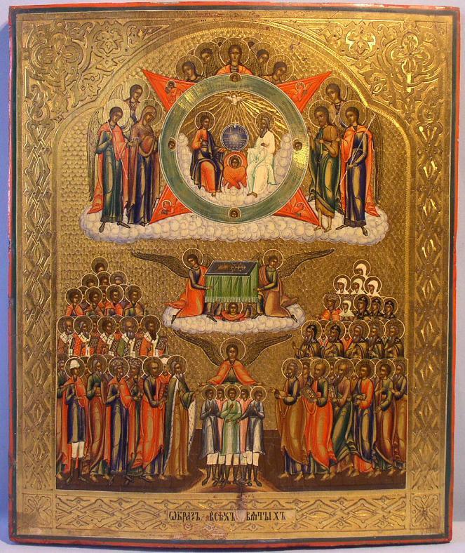 Ikone Aller Heiligen, Russland, um 1890.