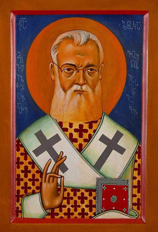 Georgische Ikone des heiligen Luka.