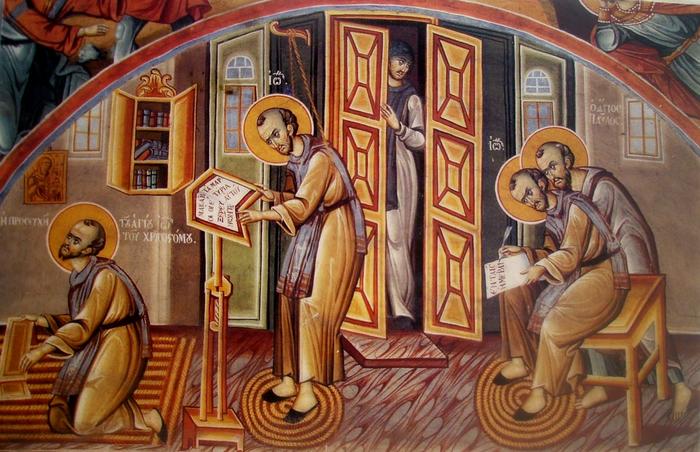 Das monastische Leben des heiligen Johannes Chrysostomus.