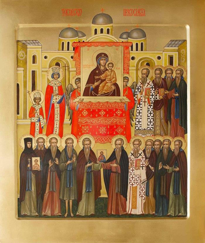 Ikone Triumpf der Orthodoxie