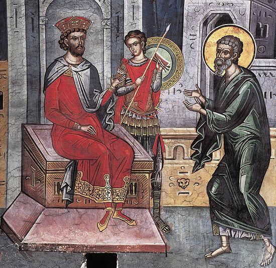 Der Heilige Joseph von Arimathäa erbittet der Leib des Herrn von Pilatus