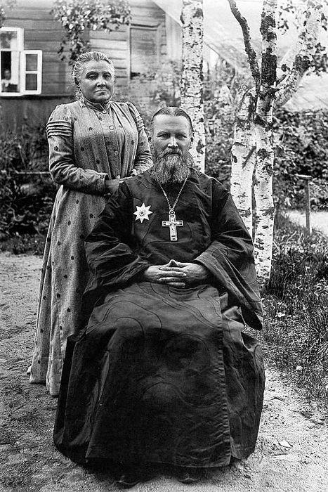 Vater Joannes und seine Matuschka Elisabeth.