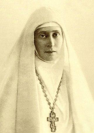 Großfürstin Elisabeth als Äbtissin des Maria und Martha Klosters in Moskau.