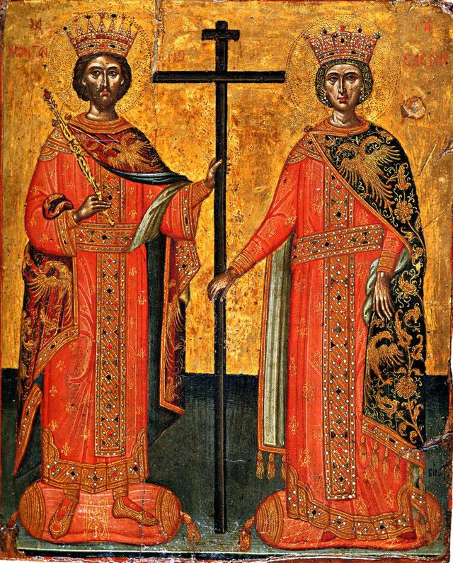 Die heiligen apostelgleichen Kaiser Konstantin und Kaiserin Helena