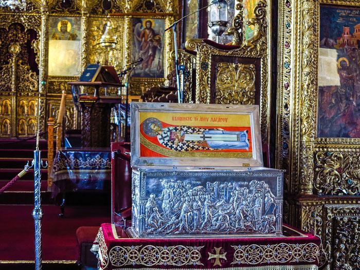 Die Reliquien des Heiligen Lazarus in der Kirche Agios Lazaros in Larnaca