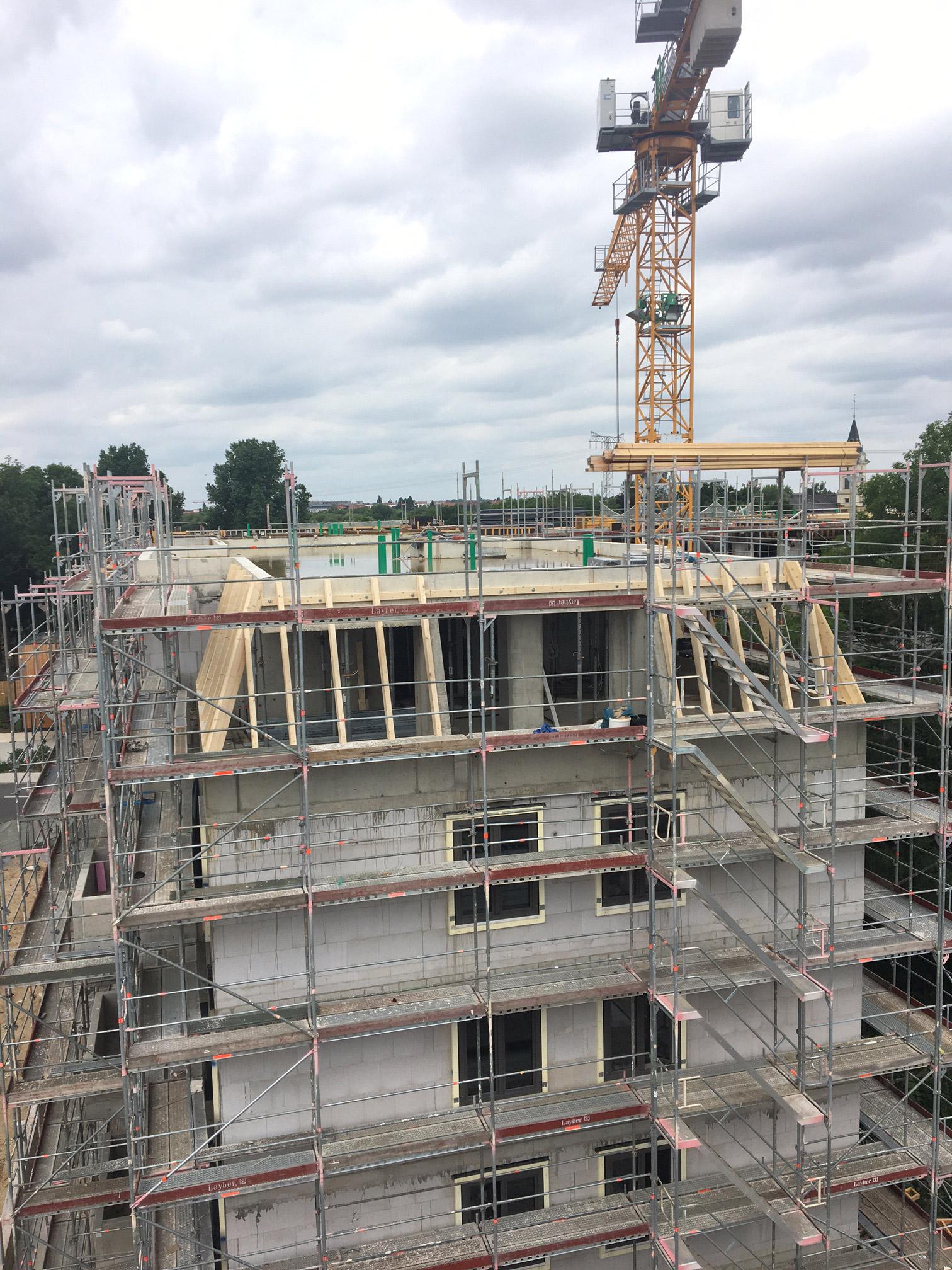 Dachstuhlarbeiten - Bauvorhaben Wohnen in Schönefeld