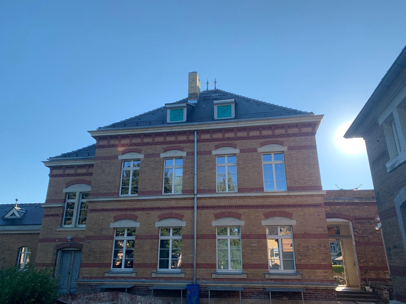 Leipziger Straße in Grimma - Denkmalschutzrechtliche Sanierung des ehemaligen Husaren Kasernentraktes