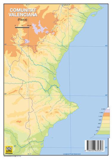 Mapa Fisico Comunitat Valenciana.Mapas Mudos Mapas Para No Perder El Norte