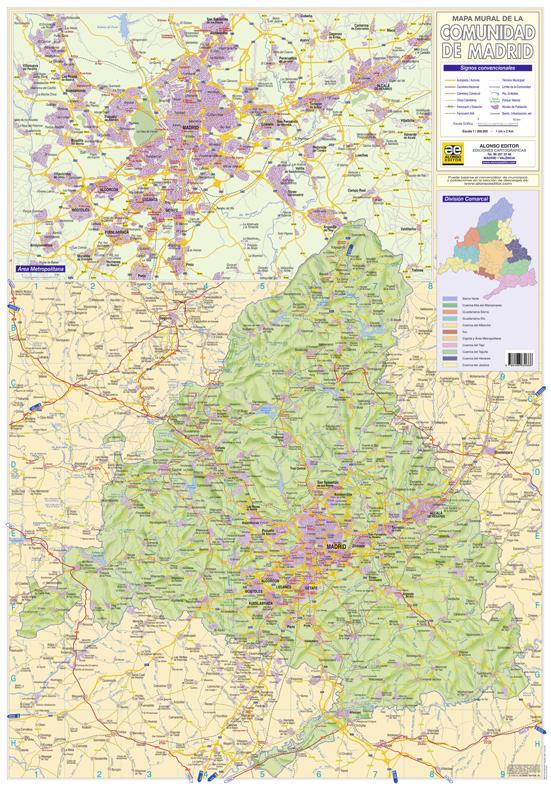 Comunidad de madrid mapas para no perder el norte for Comunidad de madrid rea