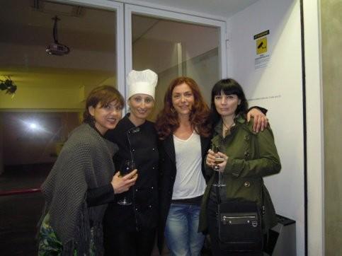 con Marina Romano,Imma Ferraro e Bettina Mattii