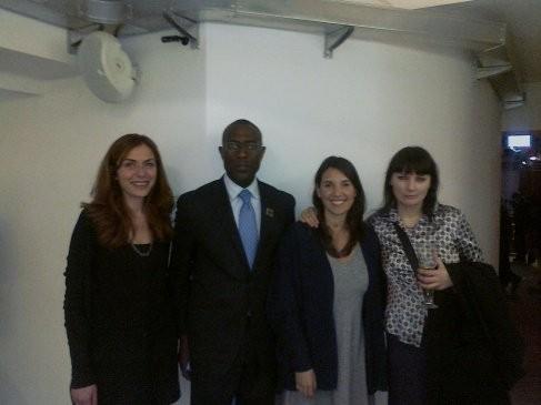con Bettina Matti,console americano di Napoli-Donald Moore e Valeria Valerio