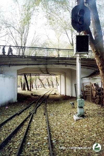 Вихідний світлофор станції Піонерська і тунель імені В.В.Маяковського