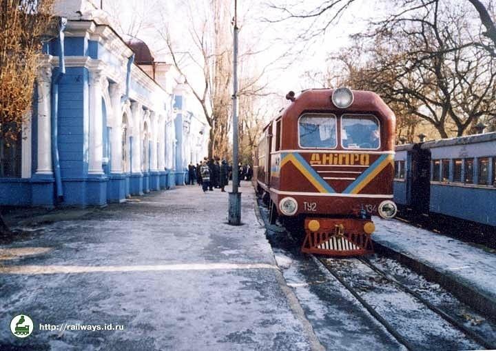 Тепловоз ТУ2-134 на станції Піонерська
