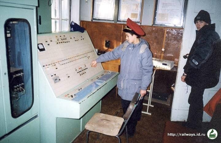 Пульт-табло ЕЦ на станції Піонерська