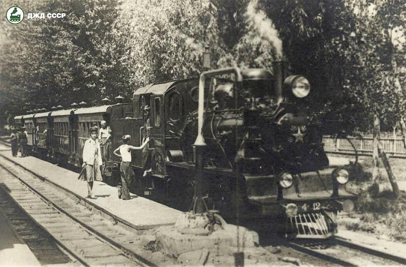 Паровоз ЮП-4-12 з поїздом