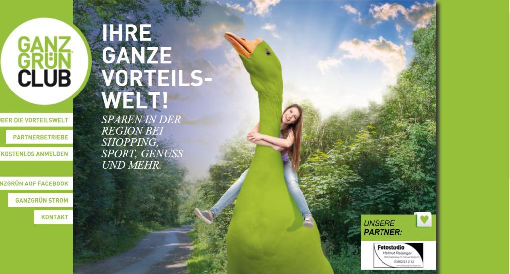 neues Wording Website: GanzGrün, Stadtwerke Kapfenberg GmbH   [GanzGut für die  Region]