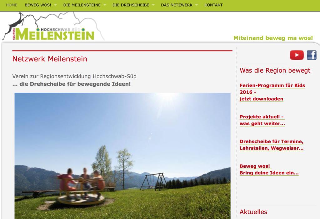 Miteinand beweg ma wos: Neupositionierung, Strategie/Wording, Netzwerk Meileinstein