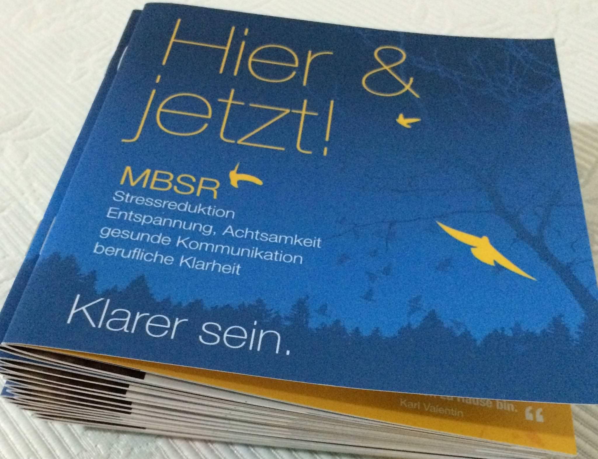 Imagebroschüre, MBSR & Stressreduktion, Marke Eigenbau (für Elke Ferstl)